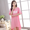 2016 New Summer Style Women Sleepwear Kintted Cotton Print Sleeping Dress Nightgown For Ladies Women's Home Clothes Sleepwear