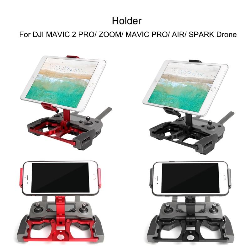 Remote Controller Smartphone Tablet Clip Holder for DJI Mavic 2 Air Spark Drone CrystalSky Monitor Bracket