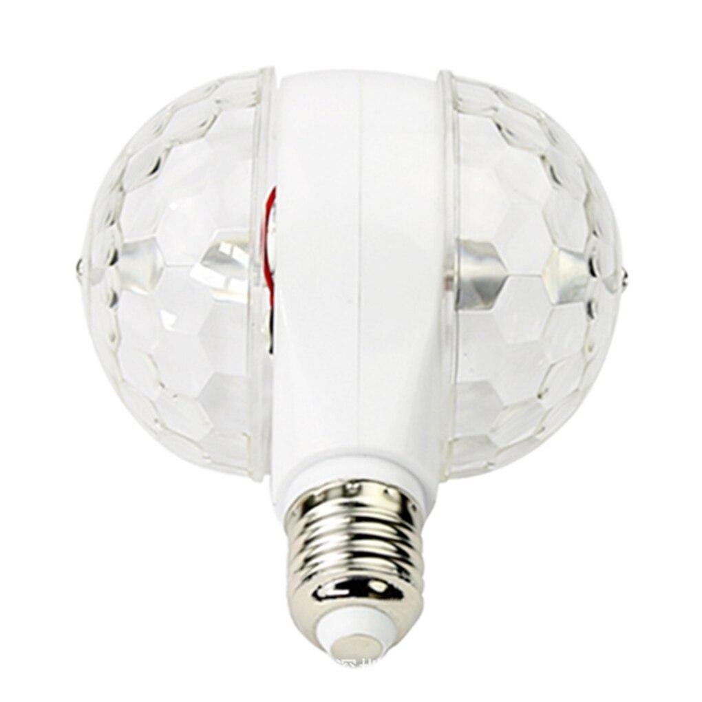 E27 6 Вт Кристалл RGB двуглавый LED Вращающаяся красочные лампы KTV диско-бар DJ с подсветкой Сценическое освещение 116*124 мм
