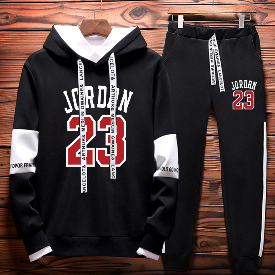 Brand New Fashion JORDAN 23 Men Sportswear Print Men Hoodies And sweatpants suit Pullover Hip Hop Mens tracksuit Sweatshirts