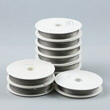 JHNBY, 0,3~ 1,0 мм, тонкая проволока из нержавеющей стали, бисероплетение, веревка, шнур, нить для DIY, ожерелье, браслеты, изготовление ювелирных изделий, сделай сам