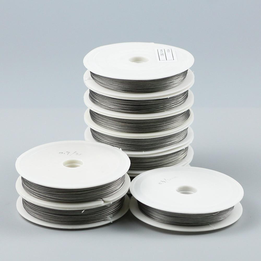 JHNBY 0.3 ~ 1.0mm İnce paslanmaz çelik tel boncuk halat kordon konu dize DIY kolye bilezik takı yapımı DIY bulguları