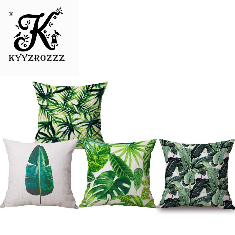 Table & Sofa Linens Home & Garden Fashion Africa Tropical Plant Cushion Covers Cactus Pillowcase Seat Decor Car/chair/office Sofa Decoration Pillow Covers Custom Cheap Sales