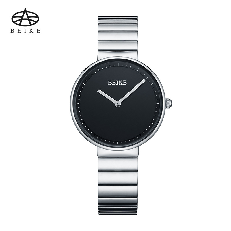 BEIKE Fashion Black Women Watches 2018 High Quality Stainless Steel Quartz Watch Woman Elegant Dress Ladies Watch Montre Femme 2016 women diamond watches steel band vintage bracelet watch high quality ladies quartz watch