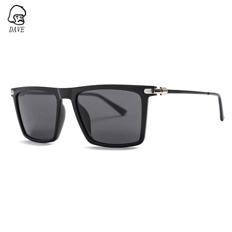 DAVE Brand Retro Square Polarized Sunglasses Men High-Quality TR90 Frame Goggle Driving Mirror Male Outdoor SunGlasses With Case