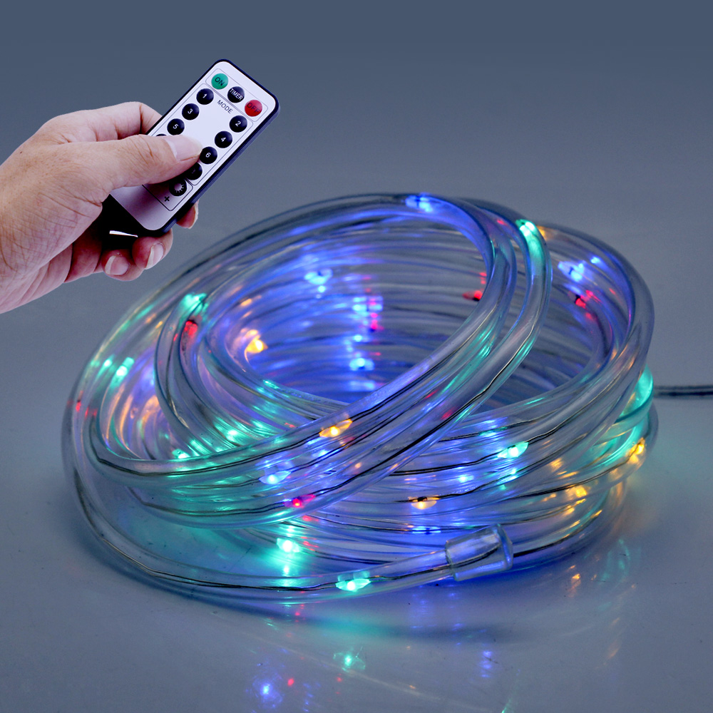 LED String Lights 5M 10M LED Remote Battery Rope Tube
