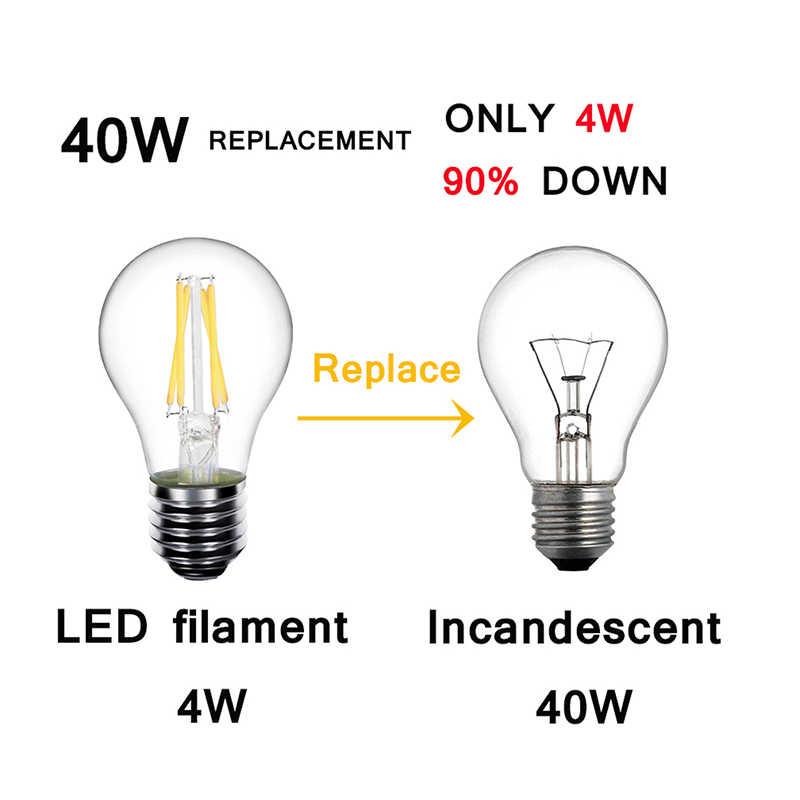 Светодиодный подвесной светильник Edison E14 светодиодный E27 лампы A60 C35 G45 старинные лампы 2 Вт 4 Вт 6 Вт 8 Вт светодиодные лампы 220 v Светодиодный светильник E14 Глобус декоративная нить накала E27