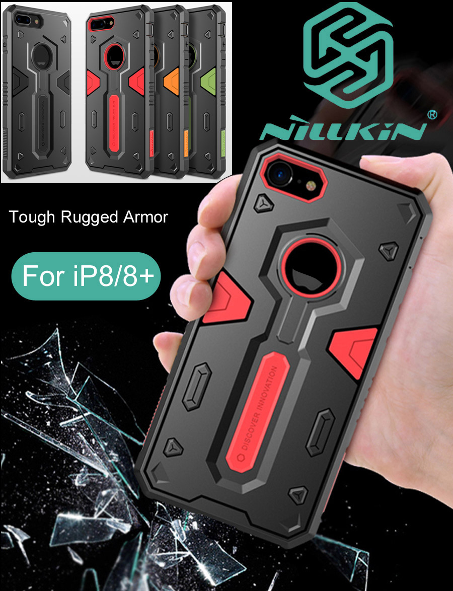 Nillkin Defender Case For iPhone 8 Plus Tough Rugged Armor Drop resistance anti hit Cover