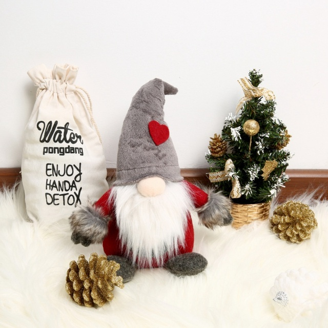 Swedish Christmas Decorations.Us 4 71 20 Off Christmas Decorations For Home Swedish Christmas Santa Claus Tomte Standing Long Hat Gnome Plush Doll Home Decor In Pendant Drop