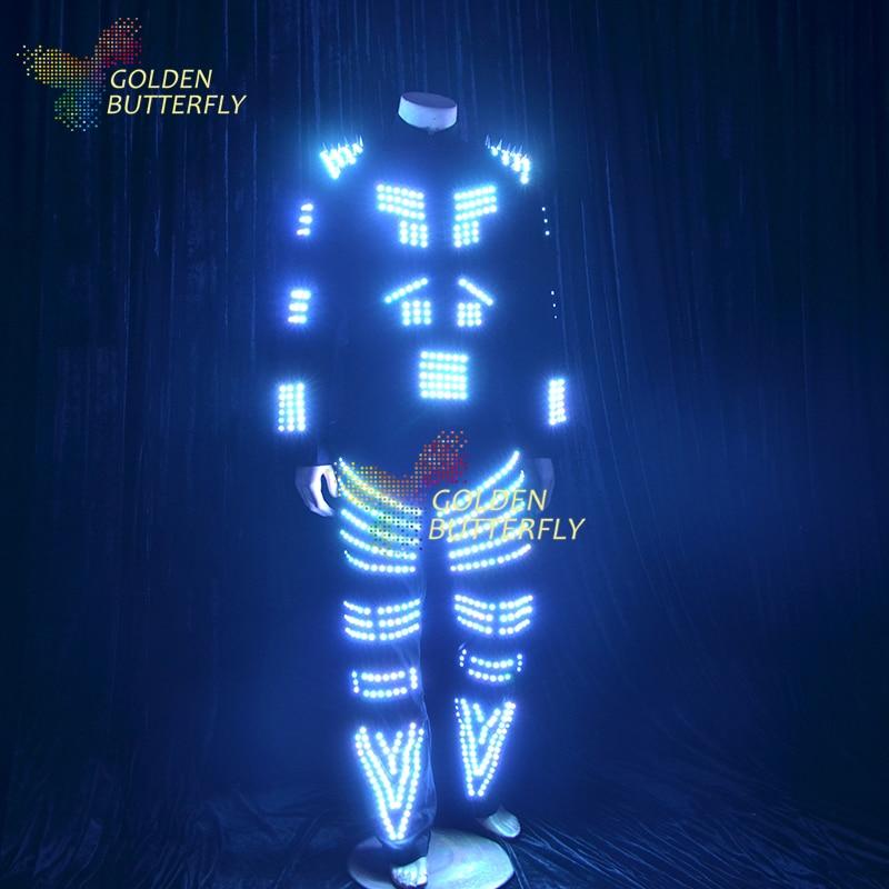 led clothing fashion sw2812 robot suits luminous costumes men illuminated glowing costumes punk. Black Bedroom Furniture Sets. Home Design Ideas