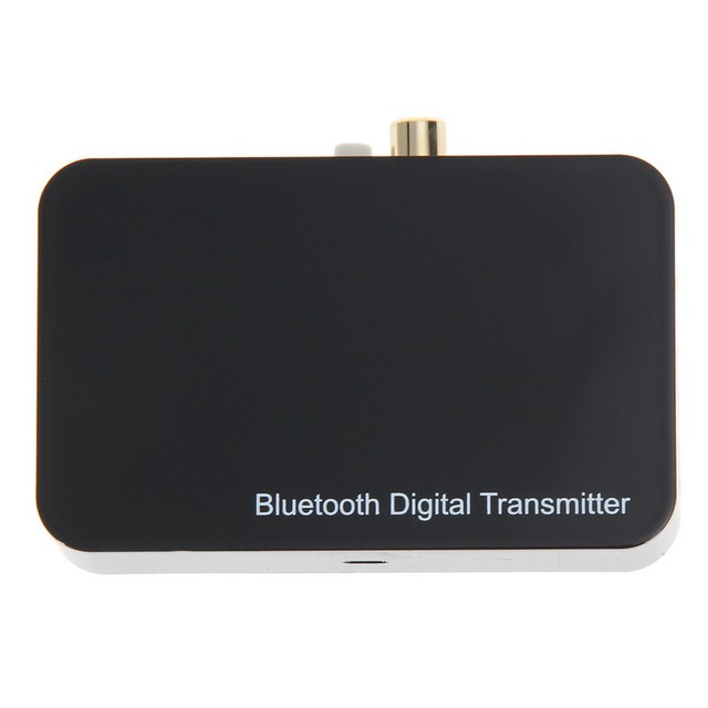 Bluetooth 2.1+EDR Digital Transmitter Aptx Wireless 3.5mm Audio Adaptor Coaxial/Optica for PC TV EU Plug