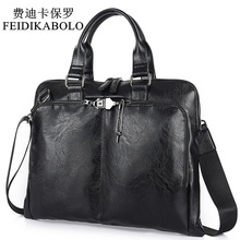 BOLO Business Briefcase Leather Men Bag Computer Laptop Hand
