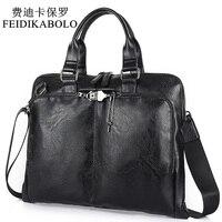 BOLO Business Briefcase Leather Men Bag Computer Laptop Handbag Man Shoulder Bag Messenger Bags Men S