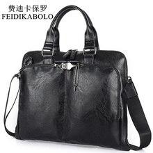 BOLO sac à épaule mallette daffaires en cuir pour hommes, sac ordinateur sac à main pour ordinateur portable, sacoche sacs de voyage pour hommes noir brun