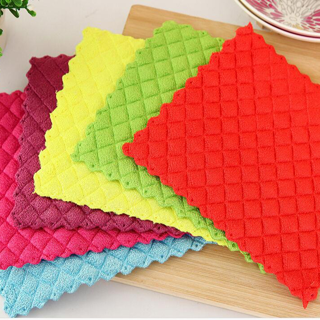 High efficient Anti-Greasy color dish cloth colorful washing dish towel magic Kitchen cleaning cloth wiping rags нож для пиццы