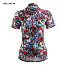 ILPALADINO Women Team Ropa Ciclismo Cycling Jerseys Bicycle Short Sleeve Clothing Bike Girl Cycle Wear Colorful XS-3XL