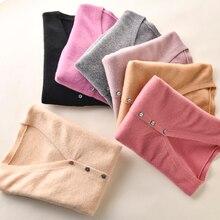 BELIARST 2019 Frühen Frühjahr Neue Reine Wolle Strickjacke Frauen V ausschnitt Schlank Kurzen Absatz Echte Kaschmir Stricken Pullover Mantel