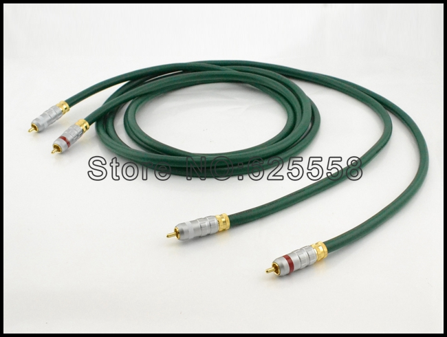 Pair 1M FA-220 Alpha OCC Conductor Wire RCA audio cable pair fa 220 rca pcocc conductor wire interconnect audio cable 1 5m diy