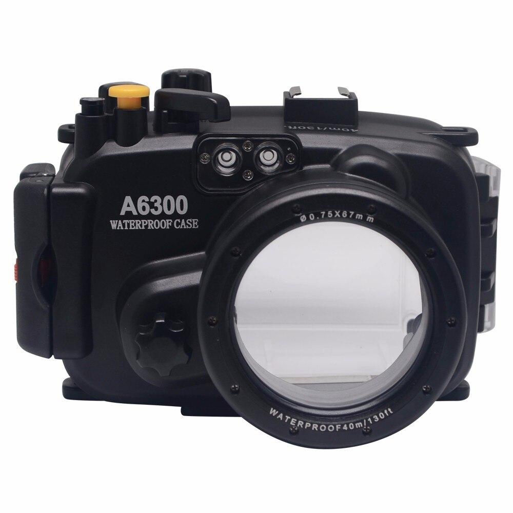 Mcoplus 40 m/130ft sac de boîtier étanche sous-marin pour appareil photo Sony A6300 avec équipement de sonnerie d'alarme précis