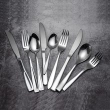 16pcs Dinnerware Kitchen Stainless steel 304 Fork Tablespoon Knife Food Tableware Flatware Cutlery Set Square Edge цена и фото