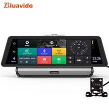 Bluavido 10 Inch 4G Android Car DVR Camera GPS Navigation FHD 1080P Video Recorder ADAS Dual lens Dashcam Remote live monitoring