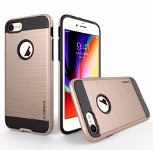 Luxury Dual Hybrid Tough Brushed PC + Silicone Phone Hard Back Rugged Cover Cases Skin For iPhone 4S 5G 5S SE 6 6s Plus 7