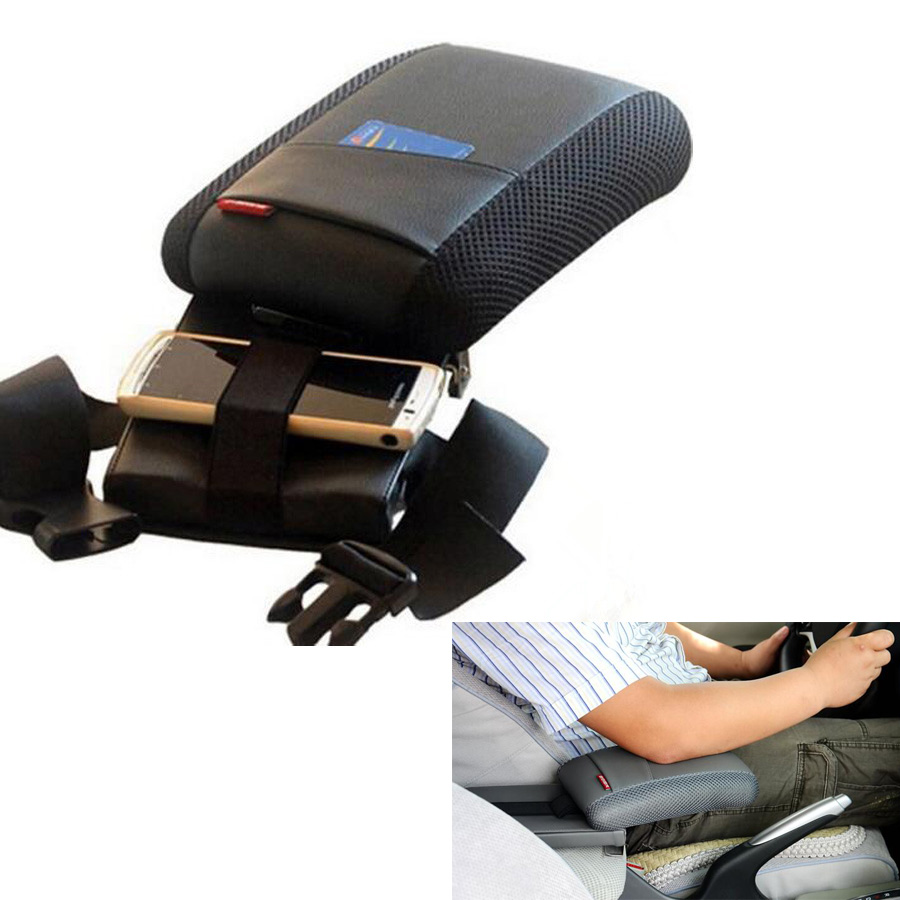 YAQUICKA Black Auto Car Center Console Armrest Storage Box Elbow Supporting For Toyota RAV4 2013 2014
