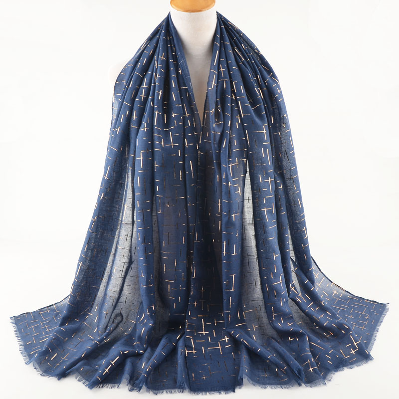 Invierno mujer 2019 glitter scarf plain cotton head scarf with ironing cross accesorios mujer bufanda hombre