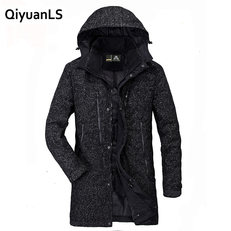 QiyuanLS Men's Winter Jackets Parka Thick Warm Fashion Casual Stand Collar Military Man Jacket Long Parka Jaqueta Masculina 2017
