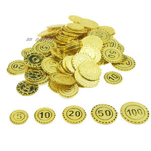 Toy Coins Party-Supplies Pirate Christmas Plastic Gold Kids Captain Chest Navidad Treasure