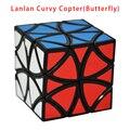 2016 Nueva Lanlan Curvy Helicóptero (Mariposa) Profesional Cubo Mágico Puzzle Velocidad Juguete Clásico de Aprendizaje Educación Juguetes Especiales