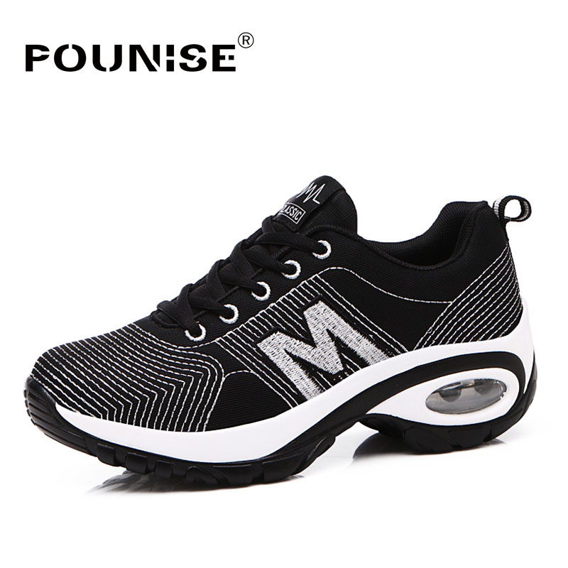 Women Shoes Sneakers Winter Casual Shoes Women 2017 Non-slip Rubber bottom Lace-up New Fashion Woman big size glowing sneakers usb charging shoes lights up colorful led kids luminous sneakers glowing sneakers black led shoes for boys