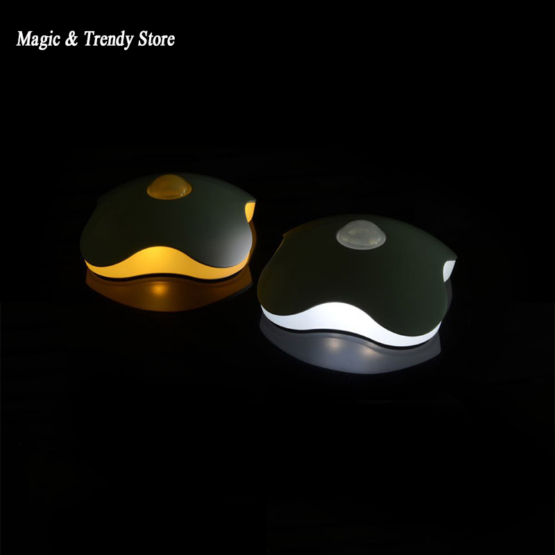 Night light Four Leaf Clover lamps Motion Sensor NightLight PIR Intelligent LED Human Body Motion Induction Lamp