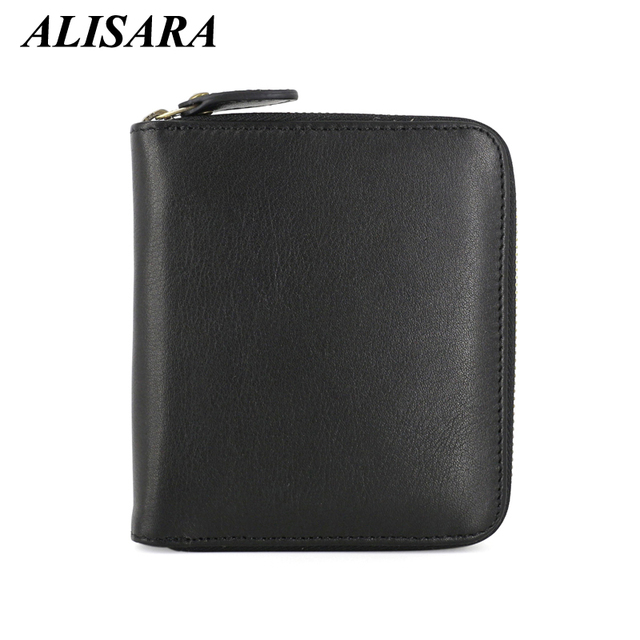 Men wallet luxury brand genuine leather Short wallets credit coin purse male Zipper purses male clutch bag carteira masculina