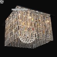 Япония Стиль высокого класса кристалл лампа инженерно лампы роскошь современный кристалл Потолочные Светильники Освещения Гостиницы L800xW800xH350mm
