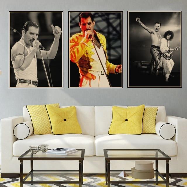Print Queen Pop Music Retro Art Freddie Mercury Poster A5 A4 A3