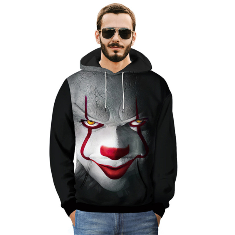 3d Print It Pennywise Clown Stephenmovie Cosplay Hoodies King Horror Sportswear Men's Clothing