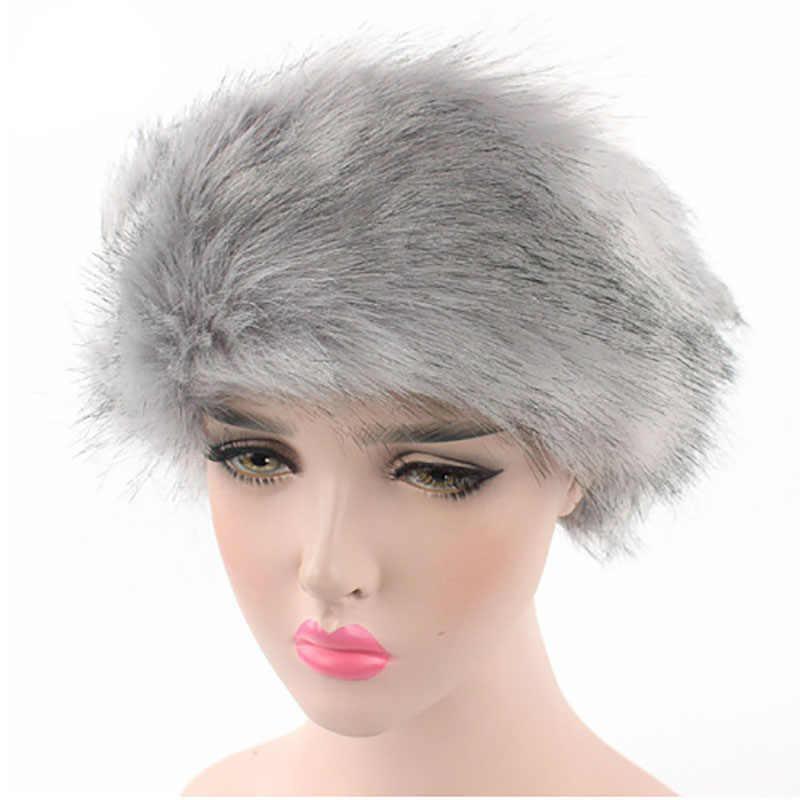 b9ab812676e ... Bandanas Winter Fur Warm Headband Fox Fur Hat Faux Fur Head Warmer  Women s Ear Warmer Earmuff ...