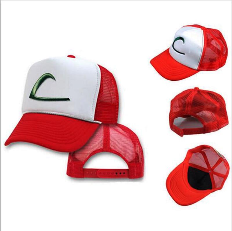 2016 Pocket Monsters boy çocuk kap moda mektup Cospaly şapka marka yaz beyzbol şapkası erkek kız şapkalar doğum günü hediye ayarlanabilir
