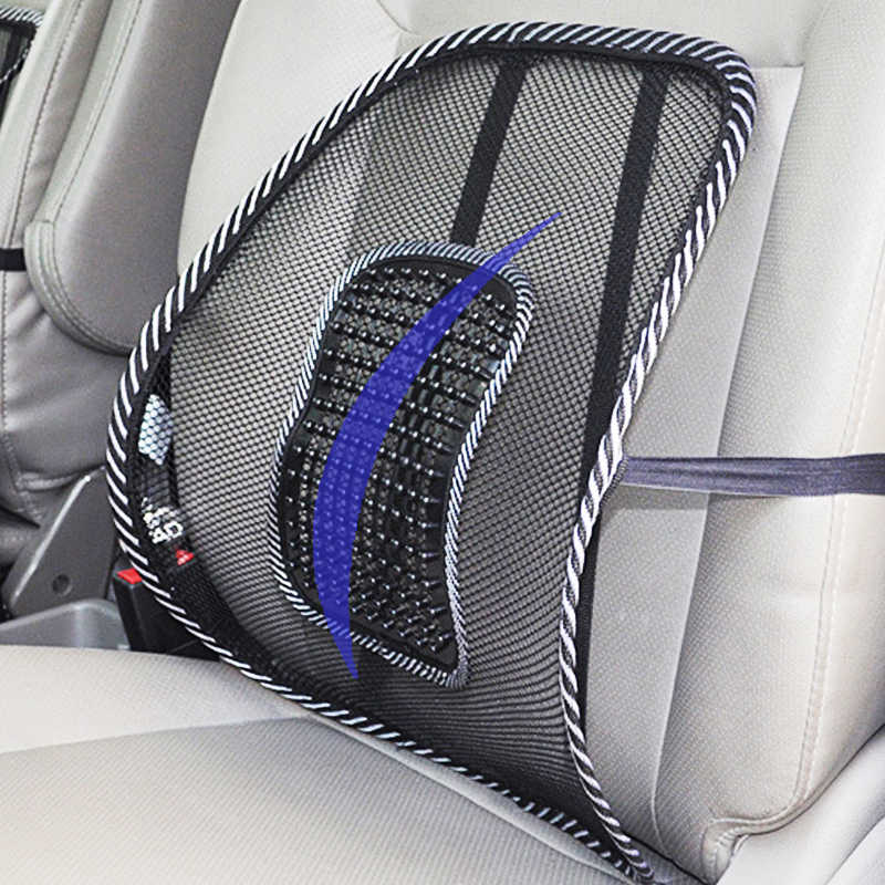 Universal Car Back Support Chair Massage Lumbar Support Waist Cushion Mesh Ventilate Cushion Pad For Car Office Home