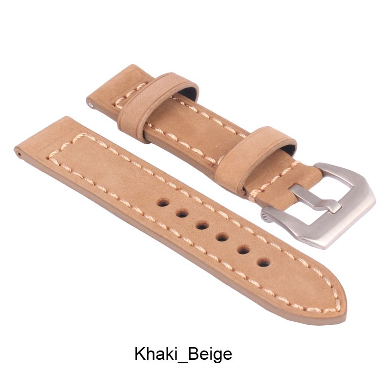ZLLB04Y_D_Leather_Watchband_Khaki_Beige_Silver Buckle