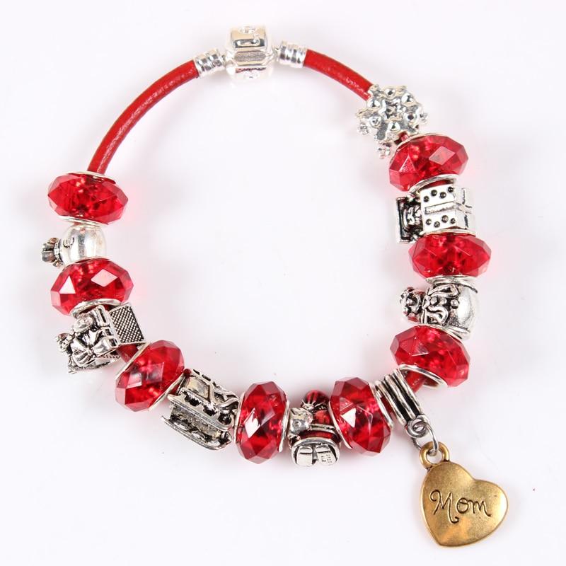 1pcs lot 2017 family charms bracelet bangle