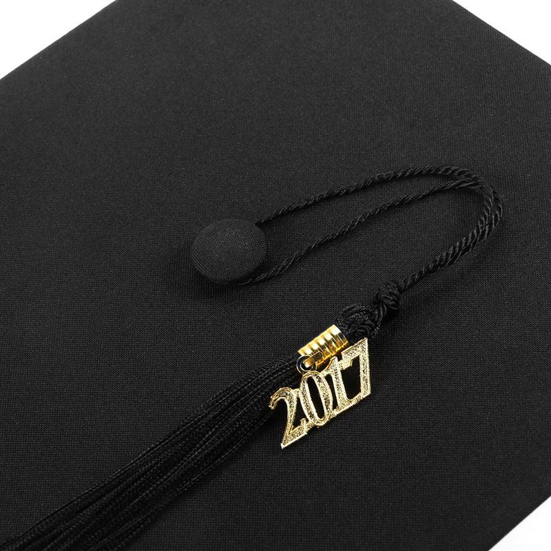 2017 Clásico Casquillo de la Graduación Con Lazo de La Borla de La ...