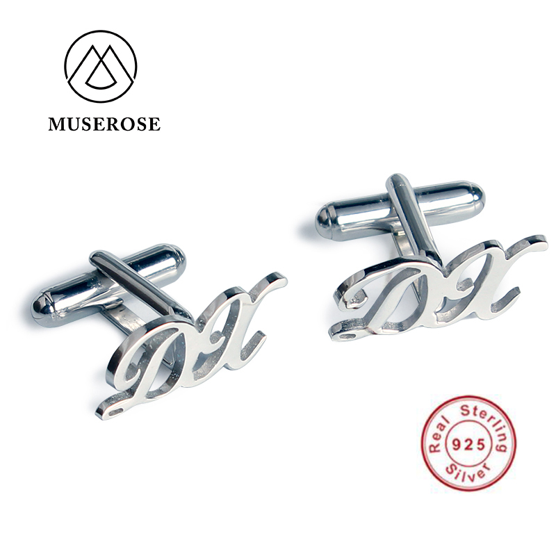 Sterling Silver Handmade Shirt Cufflinks for Mens Tie Clips&Cufflinks High Quality Custom Jewelry Personalized Gift for Wedding все цены