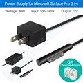 Kld marca 36 w fonte de alimentação para microsoft surface pro3 pro4 acessórios adaptador de alimentação carregador de linha pad pda tablet carregador de bateria