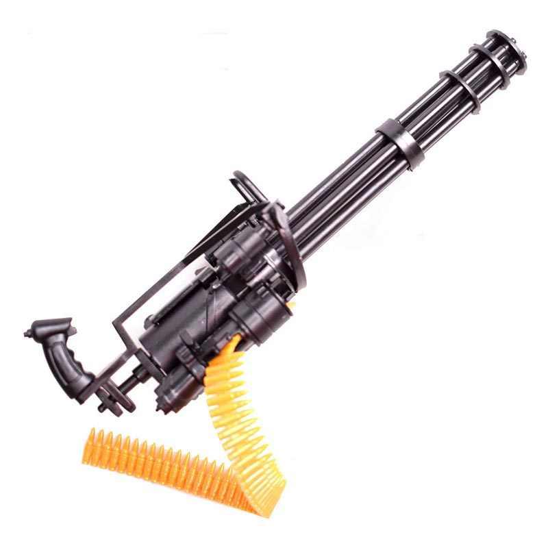 مقياس 1:6 12 بوصة غاتلين تجميع بندقية نموذج عمل أرقام المنهي T800 البنادق الرشاشة الثقيلة + رصاصة حزام هدية للأطفال