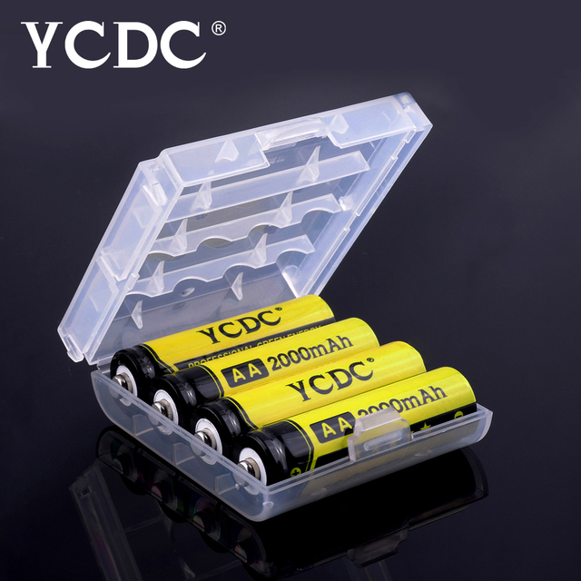 YCDC 4/8/12/16/20Pcs AA Batteries 1.2V NI-MH 2000mAh NIMH 1.2 V AA Rechargeable Battery For Camera Flashlight Toy with box
