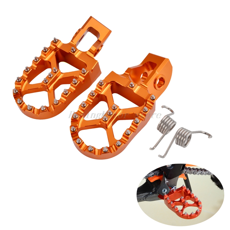 NICECNC Foot Pegs Footrest Pedals For KTM EXC SX SXF XC XCF EXCF EXCW XCFW 125 200 250 300 350 400 450 500 2017 2018 2019 MX