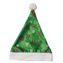 15pcs/lot Christmas Hats With Snow Green Caps For Adult And Kids XMAS Decor Wholesale New Years Gifts Home Party Supplies