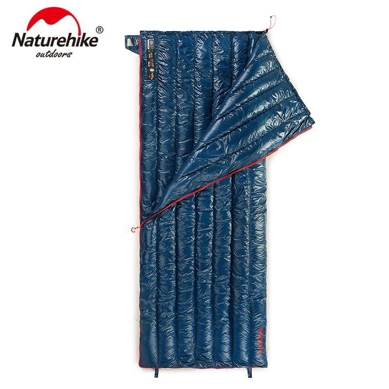 Naturehike CWM400 Ultralight Envelope Type Sleeping Bag Goose Down Lazy Bag Camping Sleeping Bags 790g NH18Y011-R